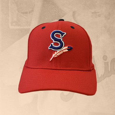 Spokane Indians 950 Stretch Snapback Red Cap