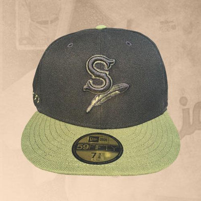 Spokane Indians Fitted Black Ifle Green Cap