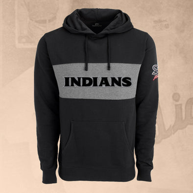 Spokane Indians Black Blocked Fleece Hoodie