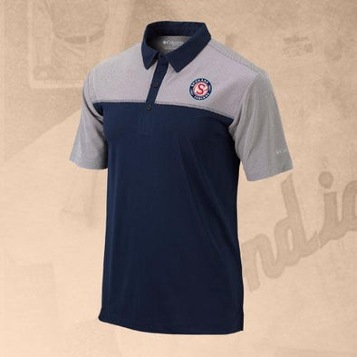 Spokane Indians Columbia Front Nine Navy Logo Polo