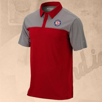 Spokane Indians Columbia Front Nine Red Logo Polo