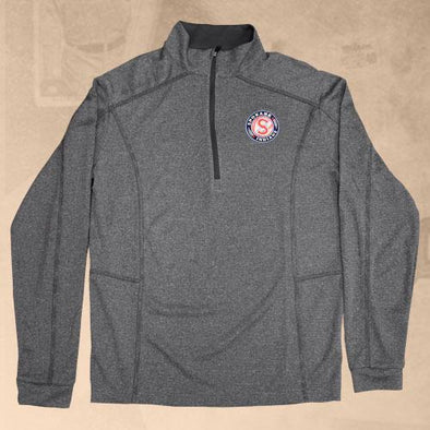 Spokane Indians Columbia Shotgun 1/4 Zip Heather Forged Iron
