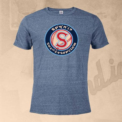Spokane Indians Denim Snow Salish Logo Tee