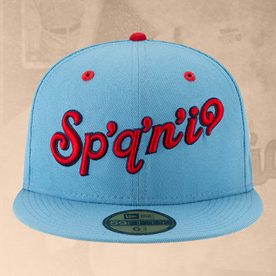 Spokane Indians Fitted Sky Blue Salish Script Cap