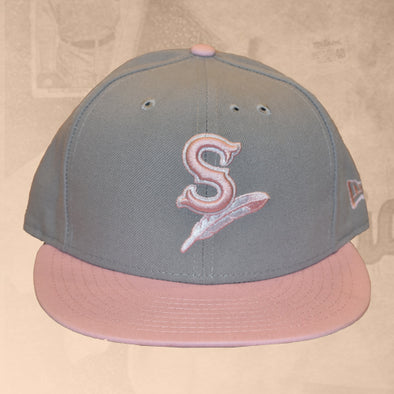 Spokane Indians Fitted Gray w/Pink Cap