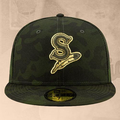 Spokane Indians Fitted Dark Green Camo Cap