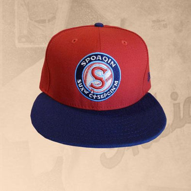 Spokane Indians Fitted Salish Red Cap