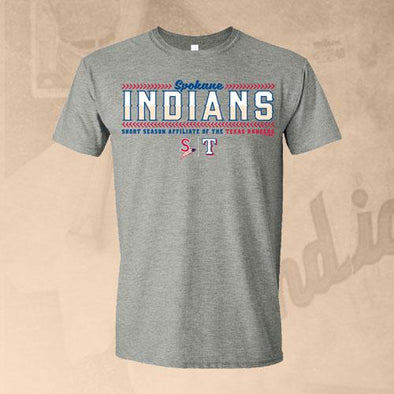 Spokane Indians Graphite Heather Outfitting Affiliate Design Tee