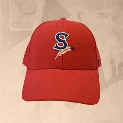 Spokane Indians Home Logo Adjustable Red Cap