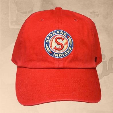 Spokane Indians Logo Adjustable Red Cap
