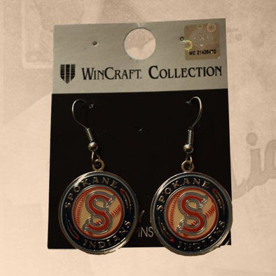 Spokane Indians Logo Earrings