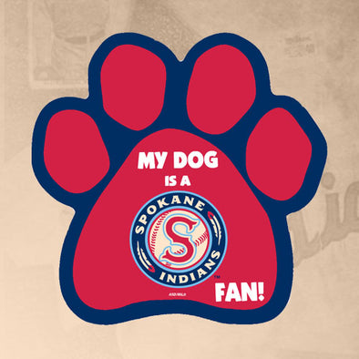Spokane Indians Dog Paw Magnet