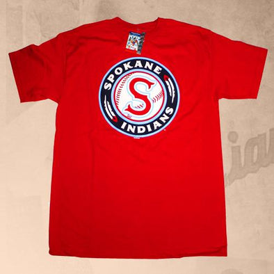 Spokane Indians Red Logo Tee