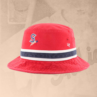 Spokane Indians Red Striped Bucket Cap