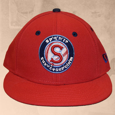 Spokane Indians Fitted Red Low Crown Cap