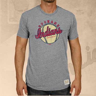Spokane Indians Steel Gray Triblend Tee