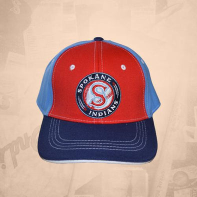 Spokane Indians Stretch Logo Light Blue Cap