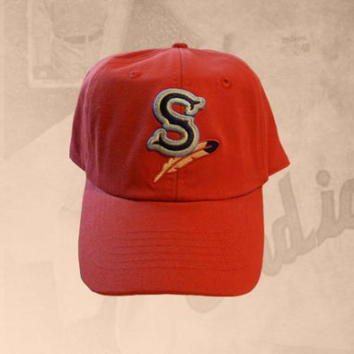Spokane Indians Youth Home Adjustable Red Cap