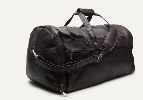 Large Multi-Pocket Duffle - Cafe Brown