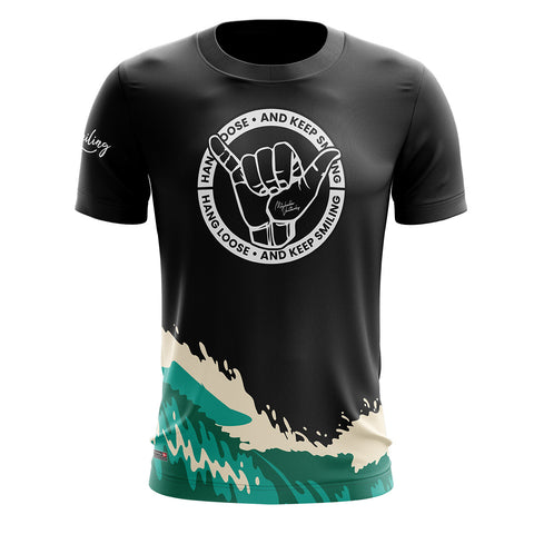 Hang Loose Running Tee - Blue