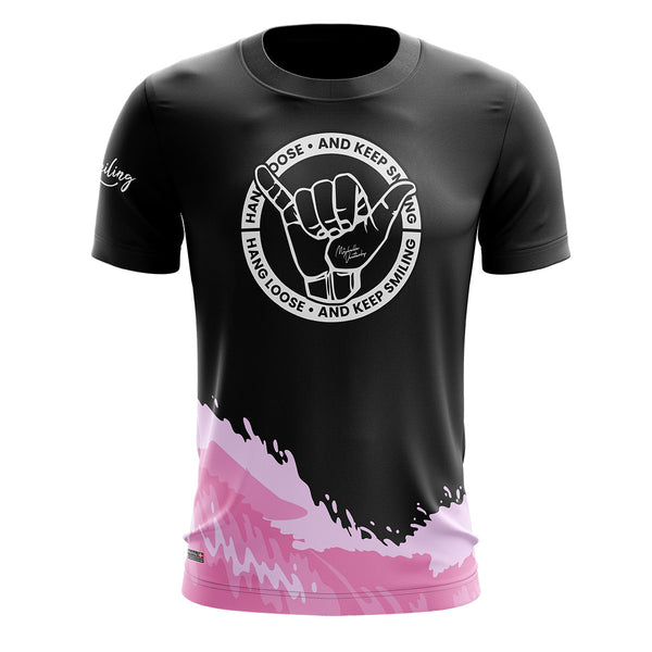 Hang Loose Running Tee - Pink