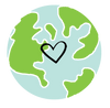 Love the Earth, Eco Friendly Recycled Sticker Design For Small Business Packaging