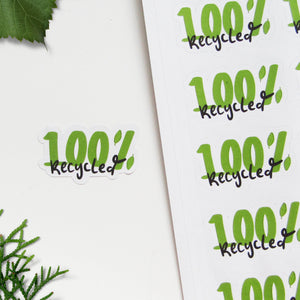 100% Recycled Recycled Paper Stickers