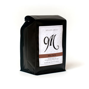 buy coffee. subscription. whole bean. espresso. french press. pour over. drip. after party. dark roast. right side view
