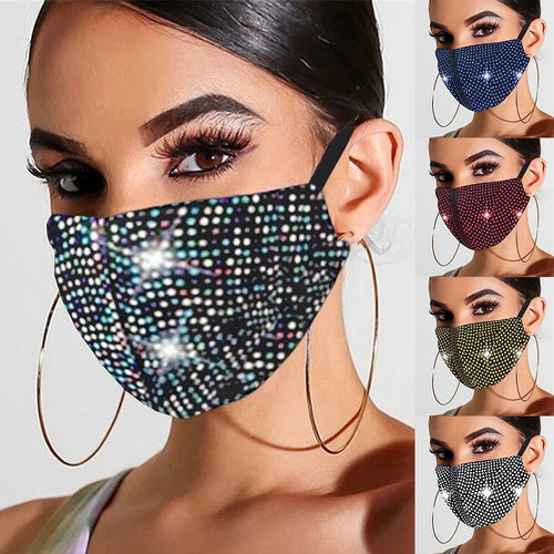 2020 Fashion Shiny Rhinestone Mask Crystal Masquerade Mask Ladies Party Diamond Rhinestone Decoration Mask Women Jewelry