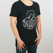 Men's Wide Crew Neck | Free-Range Human | Mountains | Designer Tee