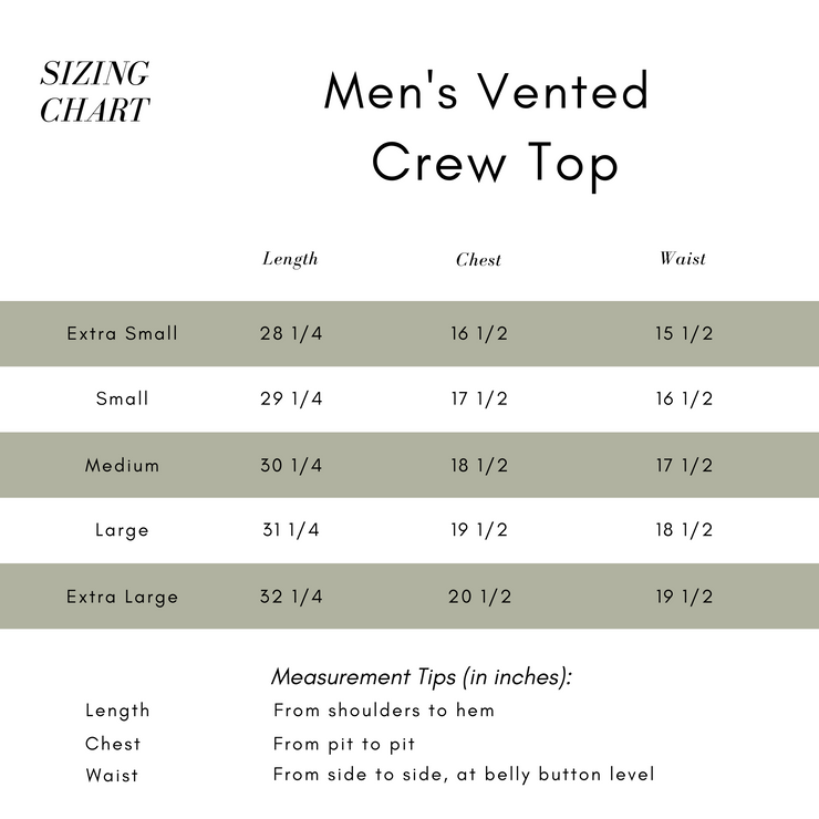 Third Citizen Sizing Guide for Men's Luxury Designer T Shirts