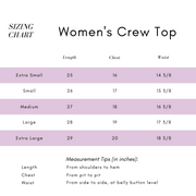 Third Citizen Sizing Guide for Women's Luxury Designer T Shirts