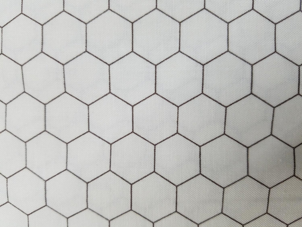 Bee Backgrounds Honeycomb, grey