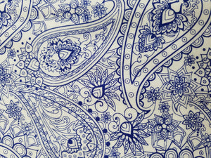 Blue Bayou, Paisley on white