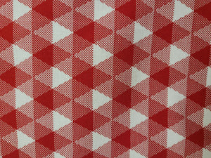 Land of Liberty, Diagonal Gingham, Red