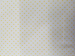 Swiss dot, White/yellow, small