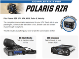 Behind The Head Polaris RZR Complete Car to Car Rugged Radio Kit (Part #XP1-KIT-BTU) - R1 Industries whips