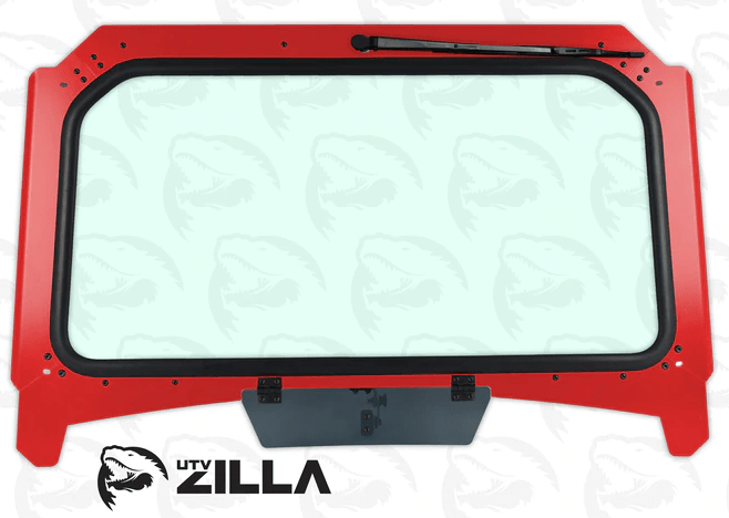 Polaris RZR Full Glass Vented Frame Windshield (fits 2019+ Turbo, 1000) UTV Zilla - R1 Industries whips