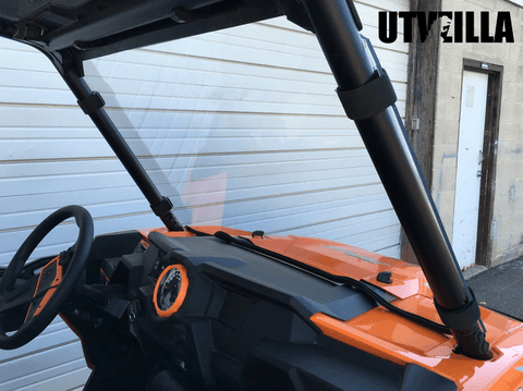2014 - 2018 RZR 900, 1000, TURBO Full Polycarbonate Windshield with Quick Straps (upgrade options)