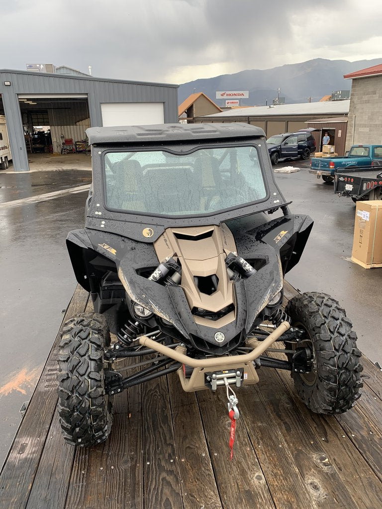 Yamaha YXZ Front Glass Windshield (fits 2019+) Dirt Warrior Accessories - R1 Industries whips