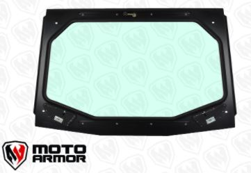 KRX FULL GLASS WINDSHIELD WITH VENTS MOTO ARMOR