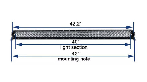 "40"" 400 Watt Curved Dual Row R1 Light Bar - R1 Industries whips"