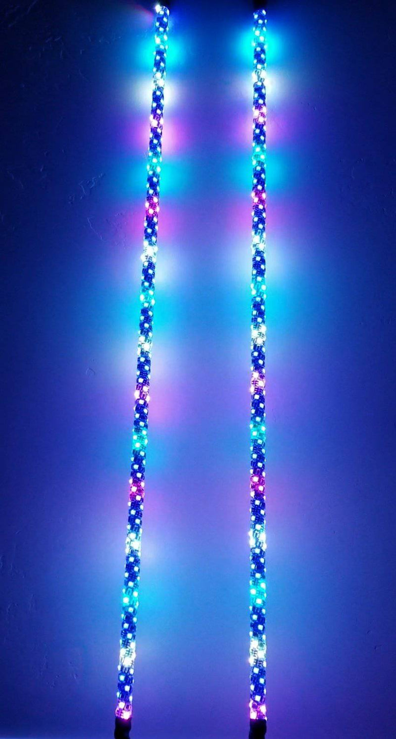 REMOTE 3 FOOT WILDCAT EXTREME LED LIGHT WHIPS (Gen 4 Pair) - R1 Industries whips