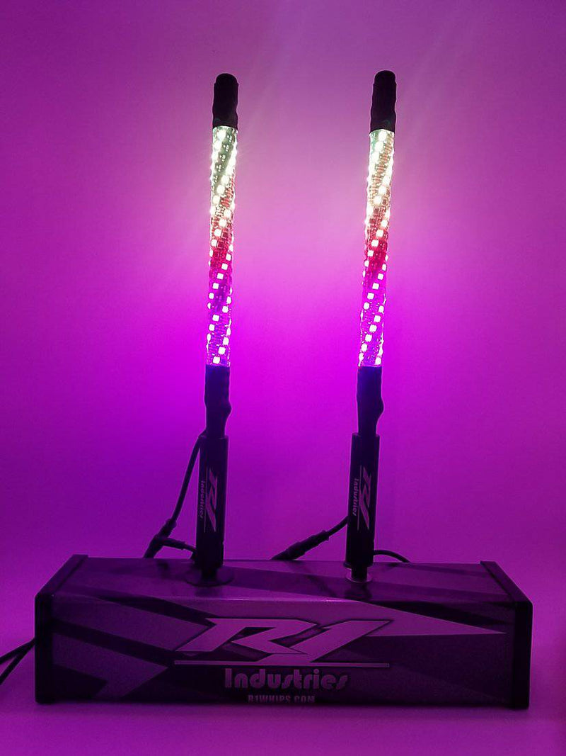 "BLUETOOTH 18"" WILDCAT EXTREME WHIPS (PAIR) - R1 Industries whips"