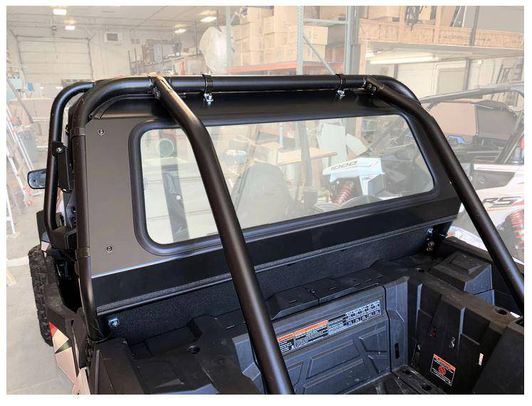 Polaris RZR Rear Glass Window (fits RZR XP 1000, Turbo) UTV Zilla - R1 Industries whips