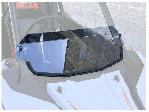 Polaris RS1 Polycarbonate Hard Coated Half Windshield with Billet Clamps UTV Zilla - R1 Industries whips