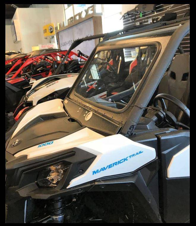 Can Am Maverick Trail/Sport Front Windshield Dirt Warrior Accessories - R1 Industries whips