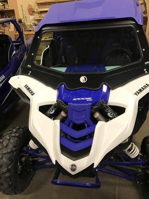 Yamaha YXZ Front Glass Windshield (fits 2016-2018) Dirt Warrior Accessories - R1 Industries whips