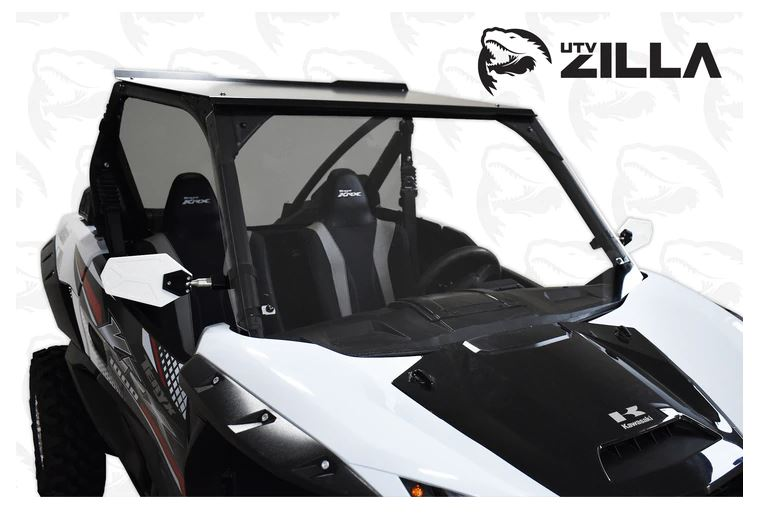 Kawasaki KRX Full Clear Polycarbonate Windshield UTV Zilla
