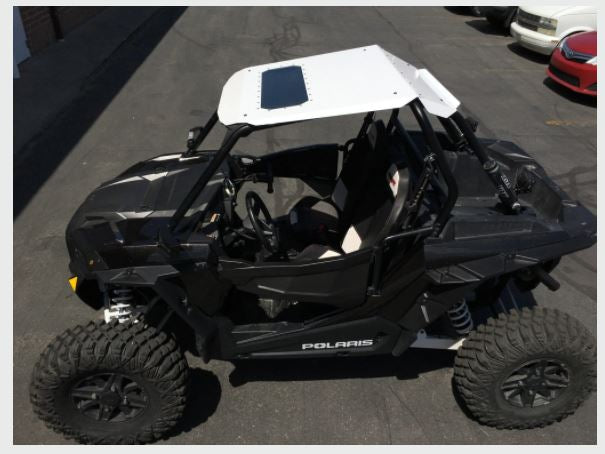 Polaris RZR Fast Back Aluminum Roof with Sunroof (fits RZR XP 1000, Turbo 2 Seater) - R1 Industries whips